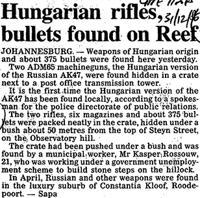 Hungarian rifles, bullets found on Reef