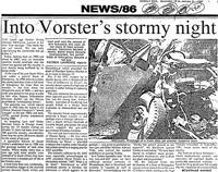 Into Vorster's stormy night