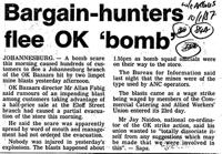 Bargain-hunters flee ok 'bomb'