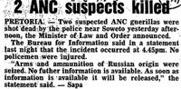 2 ANC suspects killed