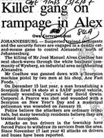 Killer gang on rampage in Alex