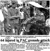 64 Injured in PAC grenade attack