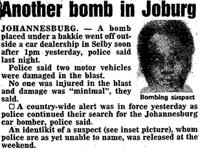 Another bomb in joburg
