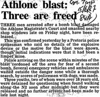 Athlone blast: Three are freed