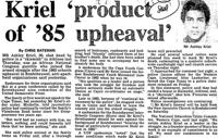 Kriel 'product of '85 upheaval'