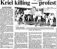 Kriel killing-protest