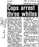 Cops arrest three whites