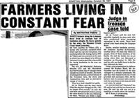 Farmers living in constant fear