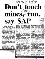 Don't touch mines, run, say SAP