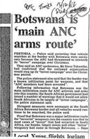 Botswana is 'main ANC arms route'