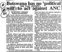 Botswana has no 'political will' to act against ANC