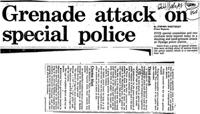 Grenade attack on special police