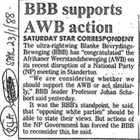 BBB support AWB action