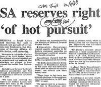SA reserves right 'of hot pursuit'