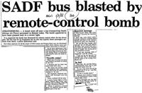 SADF bus blasted by remote-control bomb