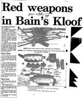 Red weapons in Bain's Kloof