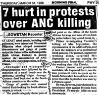 7 hurt in protests over ANC killing