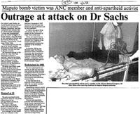 Outrage at attack on Dr Sachs