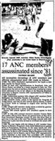 17 ANC members assassinated since' 81