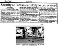 Security at Parliament likely to be reviewed