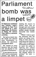 Parliament bomb was a limpet