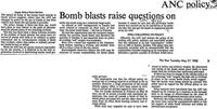 Bomb blasts raise questions on