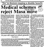 Medical schemes reject Masa move
