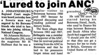 'Lured to join ANC'
