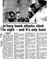 Jo'burg bomb attacks climb to eight - and it's only June!