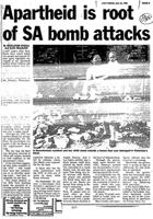 Apartheid is root of SA bomb attacks