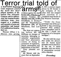 Teror trial told of arms