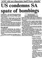 US condemns SA spate of bombings