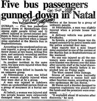 Five bus passengers gunnd down in Natal