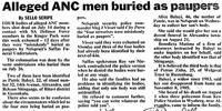 Alleged ANC men buried as paupers