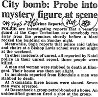 City bomb: Probe into mystery figure at scence