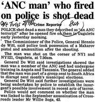 'ANC man' who fired on police is shot dead