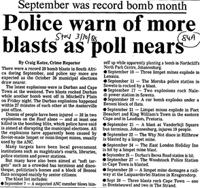Police warn of more blasts as poll nears