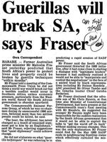 Guerillas will break SA, says Fraser