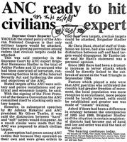 ANC ready to hit civilians - expert