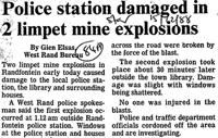 Police station damaged in 2 limpet mine explosions