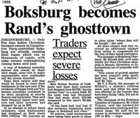 Boksburg becomes Rand's ghosttown