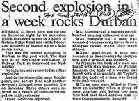 Second explosion in a week rocks Durban