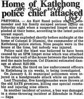 Home of Katlehong police chief attacked
