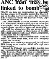 ANC man 'maybe linked to bomb'