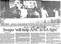 Swapo 'will help ANC in SA fight
