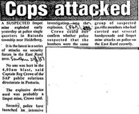 Cops attacked