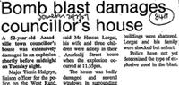 Bomb blast damages councillor's house