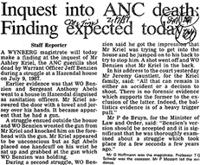 Inquest into ANC death: Finding expected today