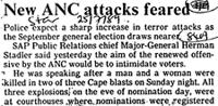 New ANC attacks feared