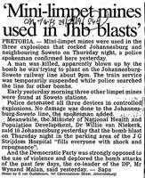 'Mini-limpet mines used in Jhb blasts'